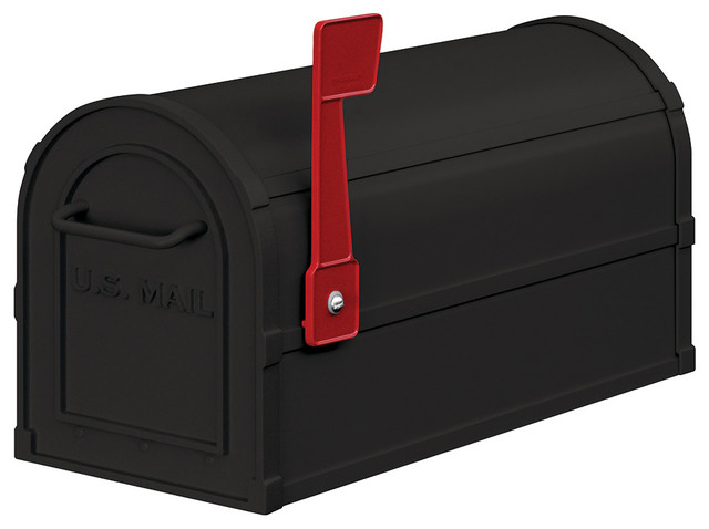 Heavy Duty Rural Mailbox - Black - Traditional - Mailboxes - by Salsbury Industries
