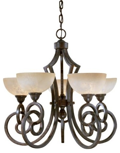 Legato 5-Light Chandelier by Uttermost traditional-chandeliers