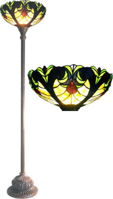 Victorian Style Tiffany Style Torchiere Floor Lamp traditional floor lamps