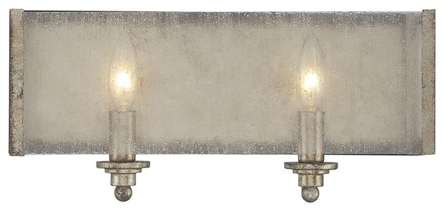 Silver Crystal Wall Lights : Savoy House Chelsey 2 Light Oxidized Silver Bathroom Wall Sconce - Transitional - Wall Sconces ...