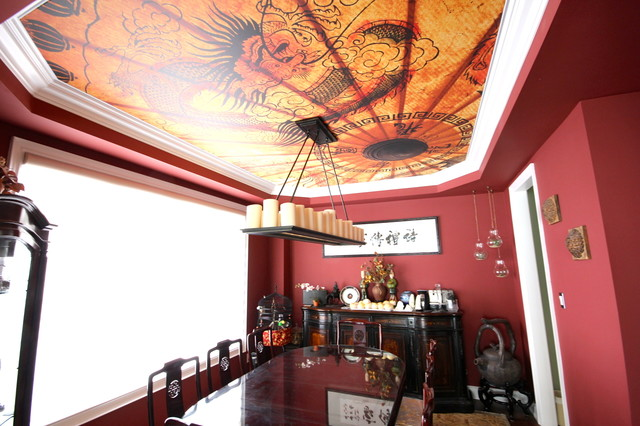 Printed Dining Room Ceiling dining-room