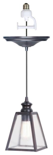 instant pendant light conversion kit traditional pendant lighting. Black Bedroom Furniture Sets. Home Design Ideas