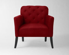 Elton Chair, Cardinal Marled Microfiber modern-armchairs-and-accent-chairs