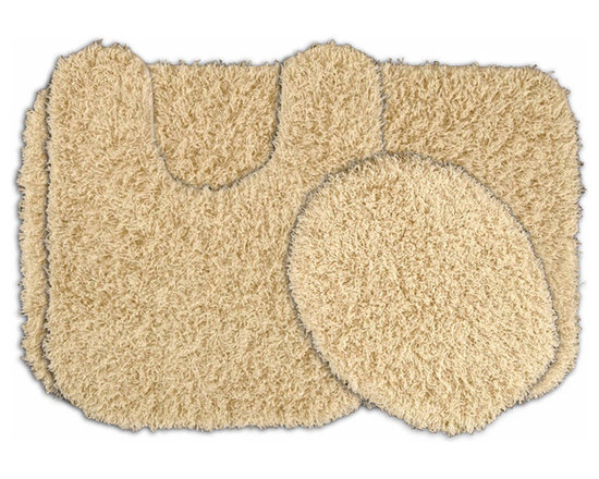 Sands Rug - Quincy Super Shaggy Sand Washable Runner Bath Rug (Set of 3) - Jazz up your bathroom, shower room, or spa with a bright note of color while adding comfort you can sink your toes into with the Quincy Super Shaggy bathroom collection. Each piece, whether a bath runner, bath mat or contoured rug, is created from soft, durable, machine-washable nylon. Floor rugs are backed with skid-resistant latex for safety.