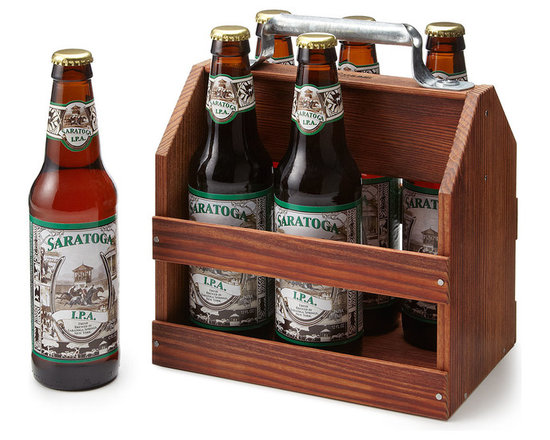 Wooden Six-Pack Beer Tote -