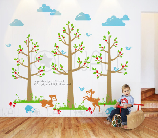 Kids wall decoration modern kids decor other metro for Child room decoration