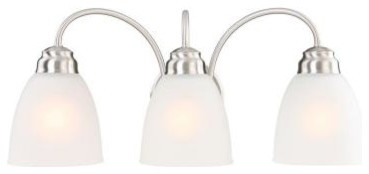 Commercial Electric 3-Light Brushed Nickel Vanity EFG1393AL-2/BN contemporary-ceiling-fans
