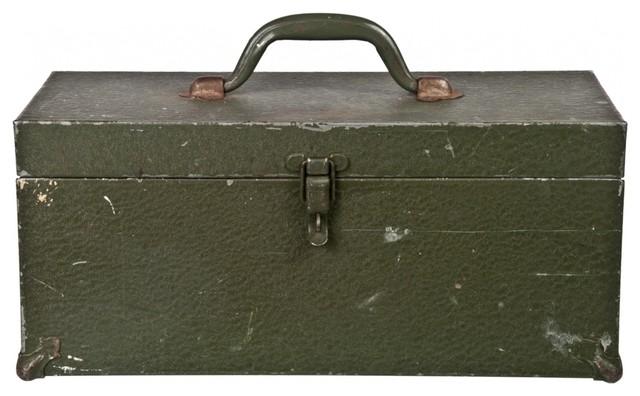 Steel Tool Box eclectic-garage-storage
