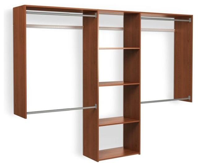 Martha Stewart Living Closet Organization 72 In H X 96 In W Wild Cherry Contemporary Closet