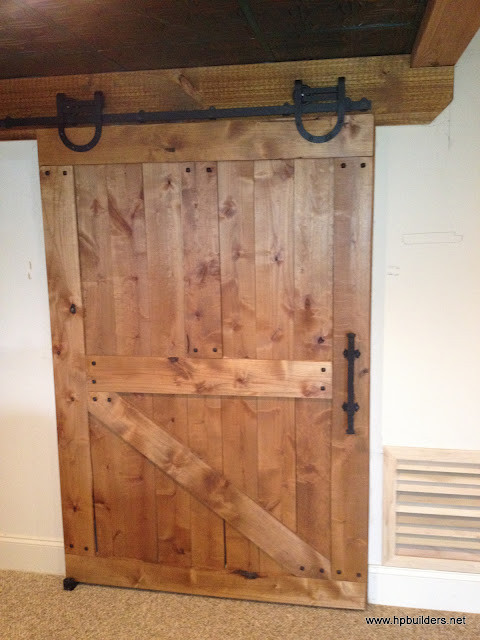 barn style door traditional interior doors philadelphia by hp builders inc. Black Bedroom Furniture Sets. Home Design Ideas