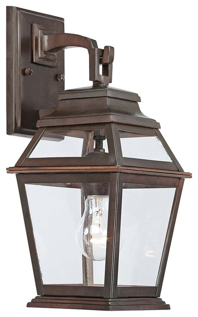 "Traditional Crossroads Point 14 1/2"" High Bronze Outdoor Wall Light traditional-outdoor-wall-lights-and-sconces"