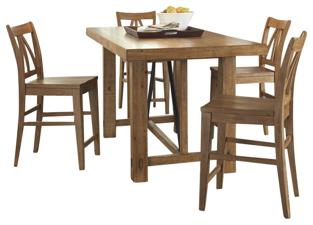 Riverside Furniture Summerhill 6 Piece Dining Table Set In