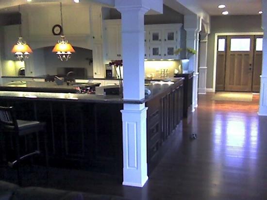 Square Half Raised Paneled Interior Column Traditional