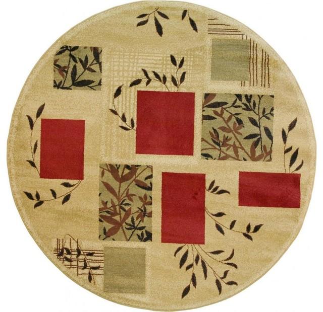 Amelia Ivory Round Rug (7'10) contemporary-rugs