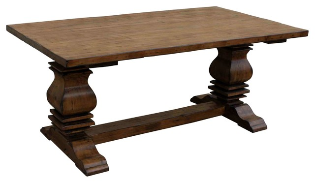 Anaheim Trestle Reclaimed Wood Dining Table Farmhouse Dining Tables