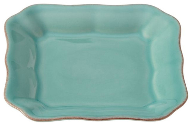 Cambria Tidbit Plate, Turquoise traditional-platters