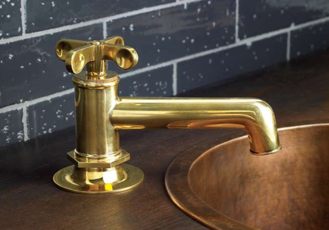 waterworks offerings traditional bathroom faucets and