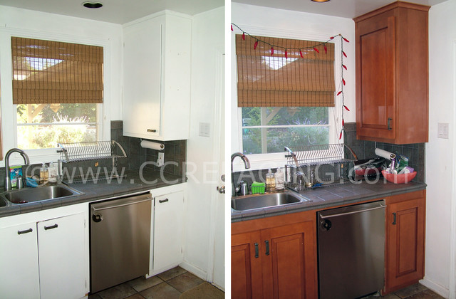 San Carlos Kitchen Reface 2 (before & after) - san francisco - by Custom Cabinet Refacing