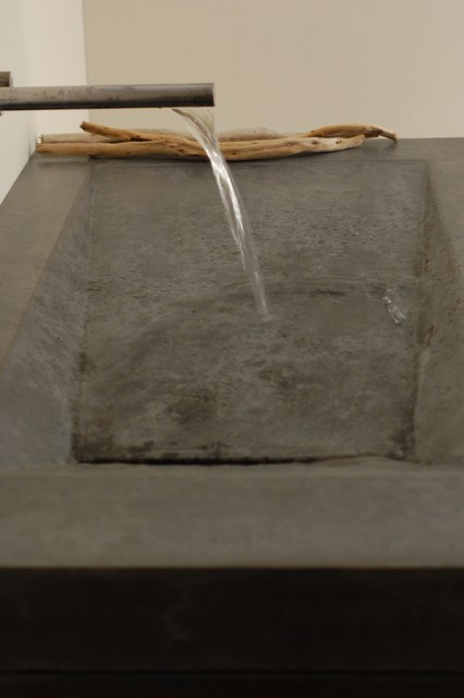 Cement Bathroom Sink : Concrete Alpine Sink - Modern - Bathroom Sinks - miami - by Miano ...