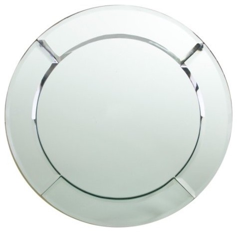 Round Mirror Charger Plate modern-charger-plates