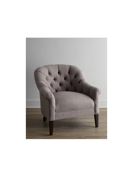 Horchow - 'Adria' Chair - This tufted chair is a lovely accent piece. Its texture and classic style add just enough design, as well as a touch of comfort.