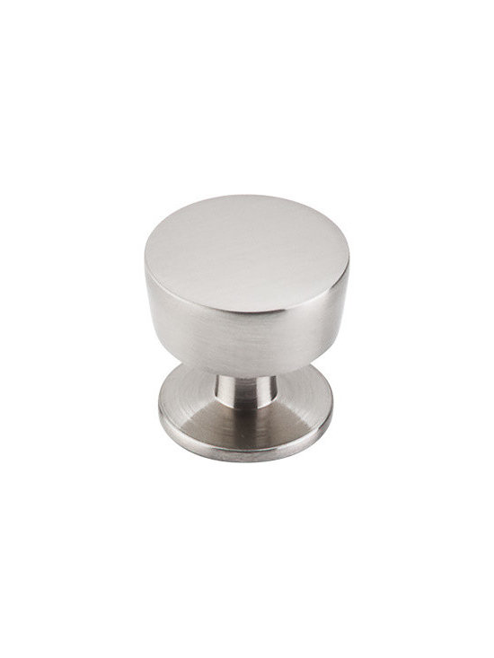 "Top Knobs - Knob 1 3/16"" - Brushed Satin Nickel - Width - 1 3/16"", Projection - 1 1/16"", Base Diameter - 1"""