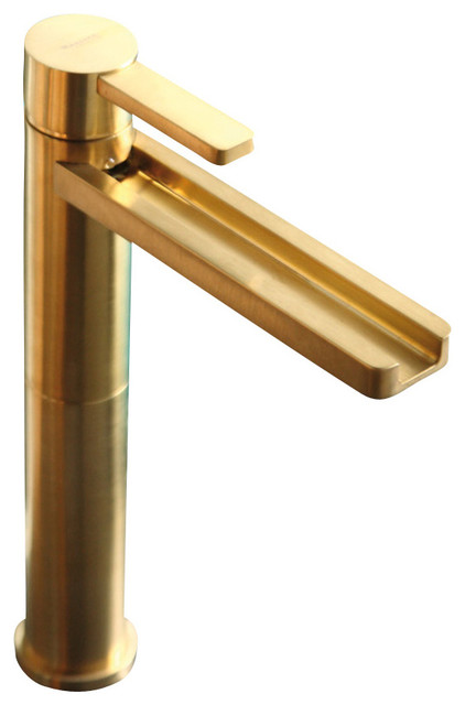ultra modern bathroom faucet brushed gold modern bathroom faucets