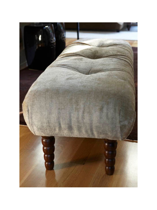 Urrutia Design - Chenille Bench - Bench can be customized by size and fabric.