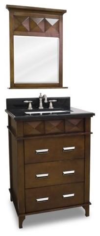 Lyn Design 26-in. Lexington Modern Single Bathroom Vanity with Mirror contemporary-bathroom-vanities-and-sink-consoles