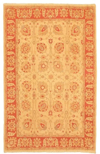 "Flat-weave Chobi Copper Wool Sumak 6'7"" x 10'2"" traditional-rugs"