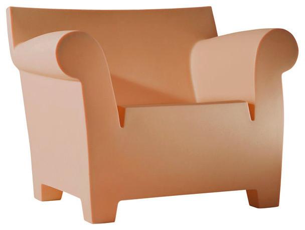 Bubble Club Armchair, Matte Terracotta - Modern ...
