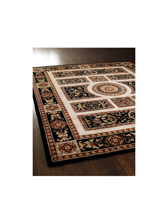 "Horchow - ""Medallion Royal"" Rug - The neoclassic design offers an upscale and plush look for this hand-tufted and hand-carved wool rug. Imported. Sizes are approximate. We recommend using a rug pad with every indoor rug to prolong its beauty by minimizing everyday wear and tear and...."
