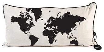 World Map Pillow contemporary-decorative-pillows