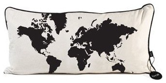 World Map Pillow contemporary pillows