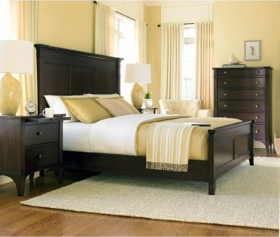 Abbott Place Panel Bed - Dark Cherry modern-beds