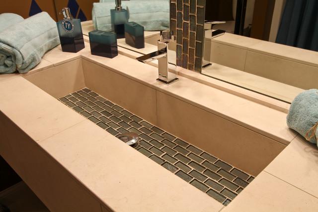 trough sink modern bathroom cleveland by architectural justice. Black Bedroom Furniture Sets. Home Design Ideas