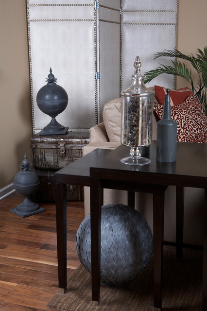 Suburban Townhome Facelift-Family Room D traditional-family-room