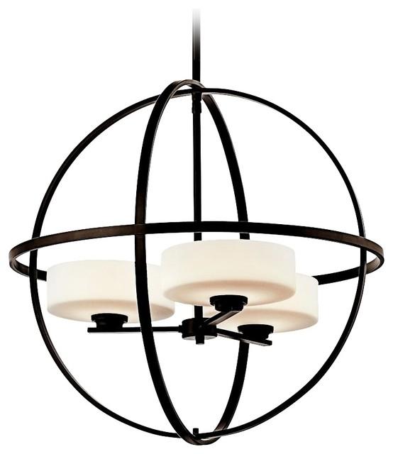 "Contemporary Kichler Olsay 22 3/4"" Wide 3-Light Olde Bronze Chandelier contemporary-chandeliers"
