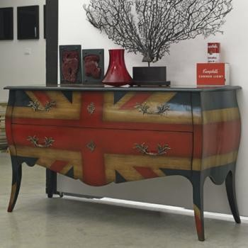 Union Jack Bombe Chest - Eclectic - Buffets And Sideboards ...