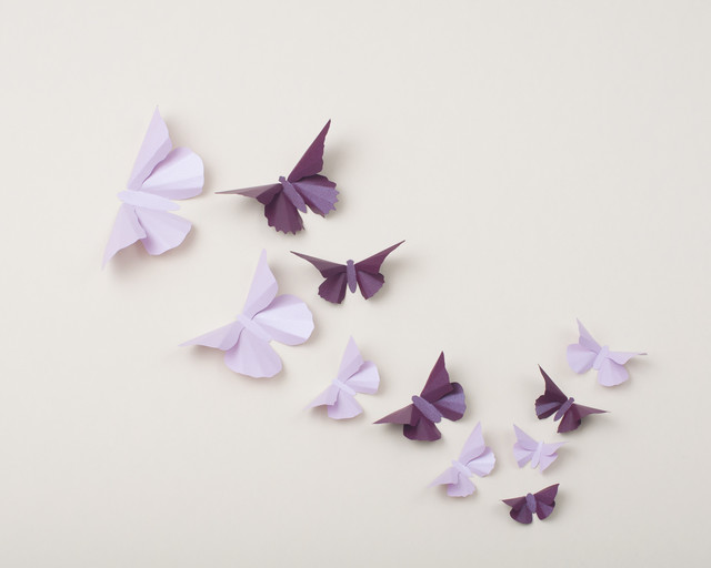 3d Butterfly Wall Art Eclectic Nursery Decor