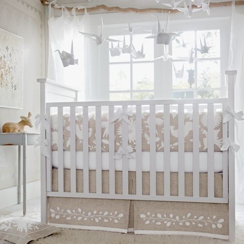 Marlo three piece crib set modern baby bedding by for Serena and lily baby girl bedding