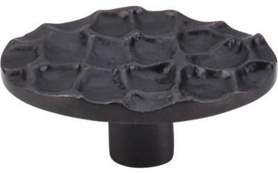 """Cobblestone Large Oval Knob 2 5/8"""" - Coal Black modern-cabinet-and-drawer-knobs"""