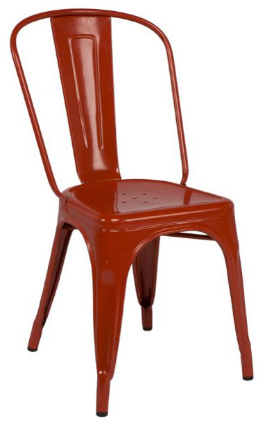 tolix caf chair red modern dining chairs by pottery barn