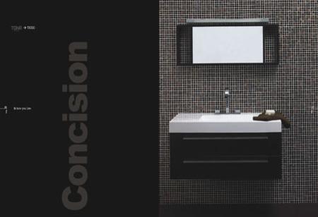 "39.25"" Wall-Mount Contemporary Bathroom Vanity Walnut TN-T1000-BK contemporary-bathroom-vanities-and-sink-consoles"