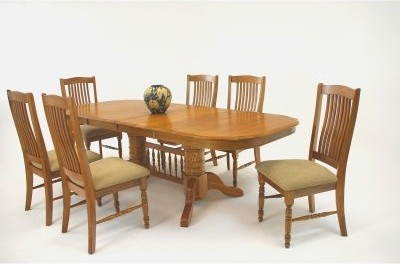 Classic Solid Wood 7 Piece 60 Inch Trestle Dining Table Set with Urbandale Chair modern-dining-tables
