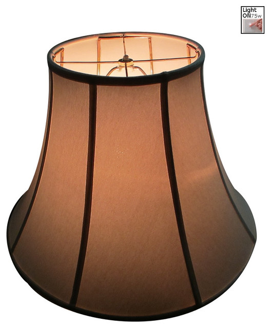 Premium Linen Bell Lampshade - Light Oatmeal traditional-lamp-shades