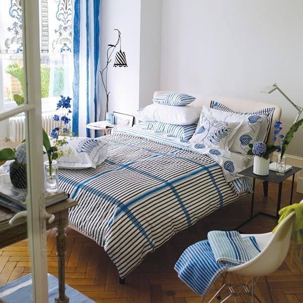 Designers guild spinelli duvet cover blue modern for Designers guild bedroom ideas