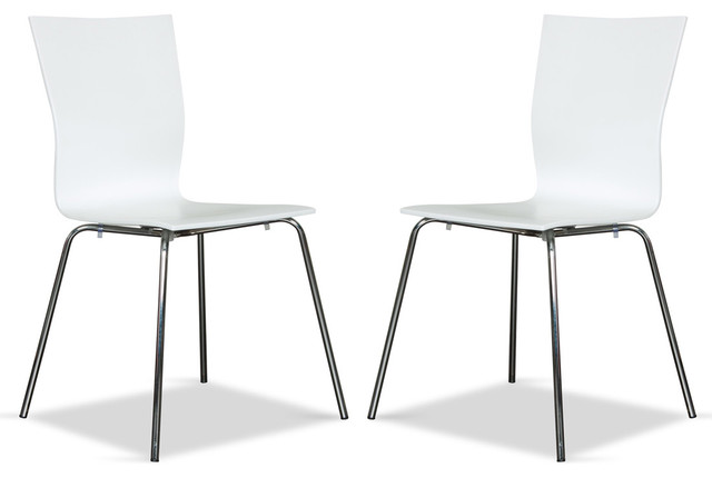 Colette White Chair Set modern-dining-chairs