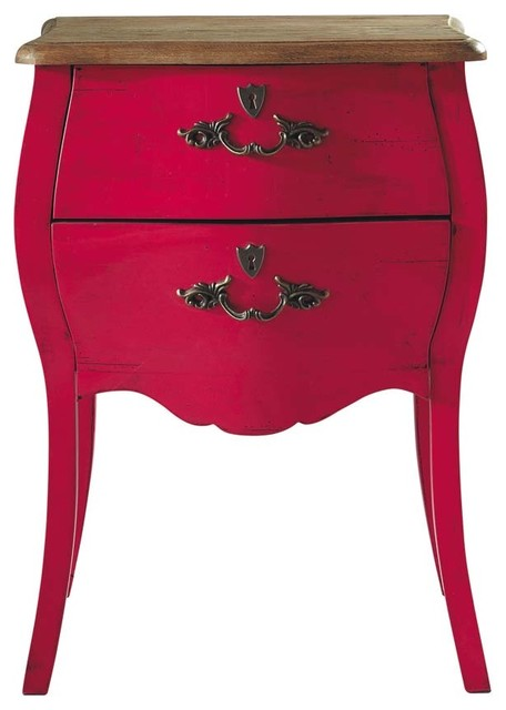 Haute Couture Pink Nightstand traditional-nightstands-and-bedside-tables