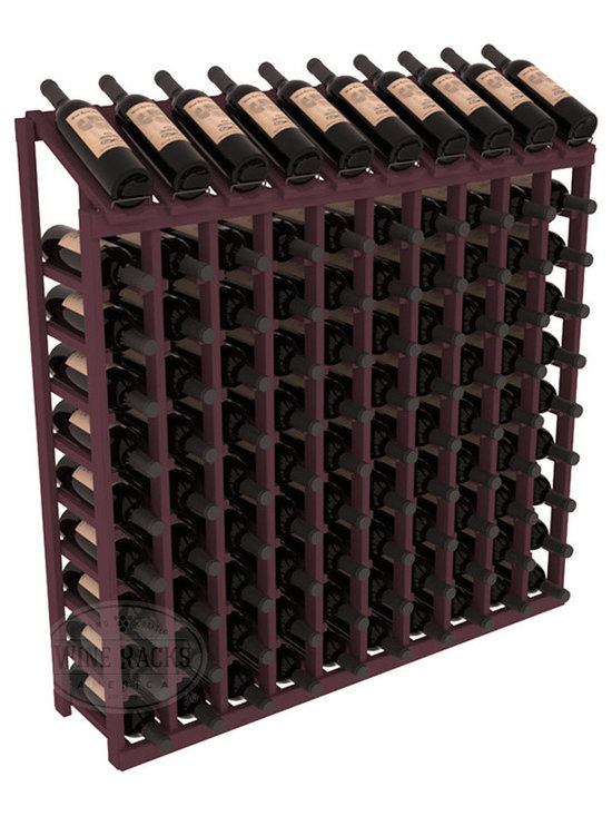 Wine Racks America - 100 Bottle Display Top Wine Rack, Burgundy Stain - Make your top 10 vintages focal points of your cellar or store. Our wine cellar kits are constructed to industry-leading standards. You'll be satisfied. We guarantee it. Display top wine racks offer ample storage below a presentation row. Great as a stand alone unit or paired with other modular racks from our product lineup.